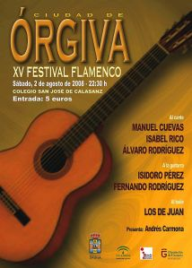 XV Festival Flamenco Ciudad de Órgiva