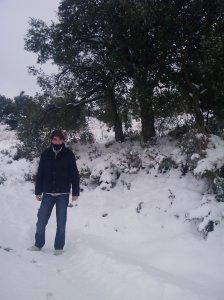 """Estampa nevada en el """"Haza del Lino"""""""