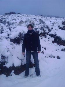 Camino de subida a las antenas de televisión en la cima de la Sierra de Lújar