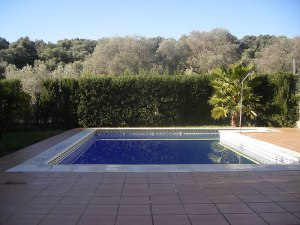 Gran piscina privada