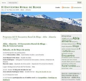 II Encuentro Rural de Blogs - Abla - Almería