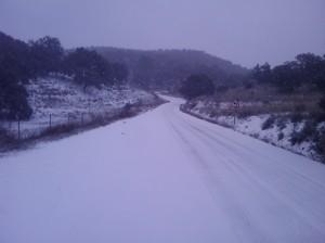 Haza del Lino nevando