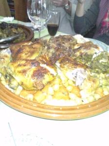 Pollo asado con cuscús