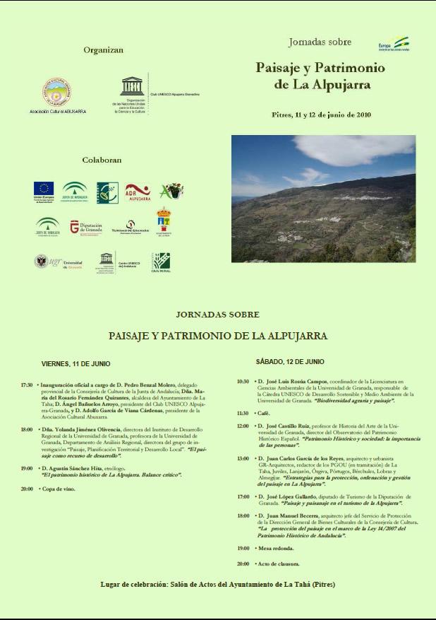 Jornada Paisaje y Patrimonio Alpujarra
