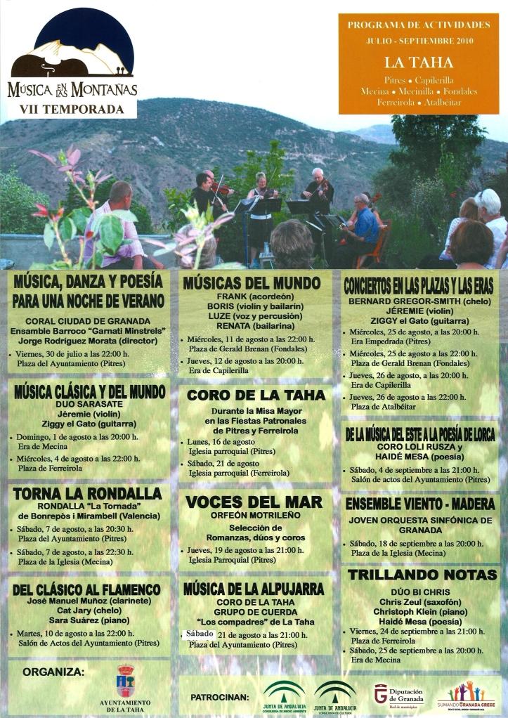 Música en las Montañas - Programa 2010