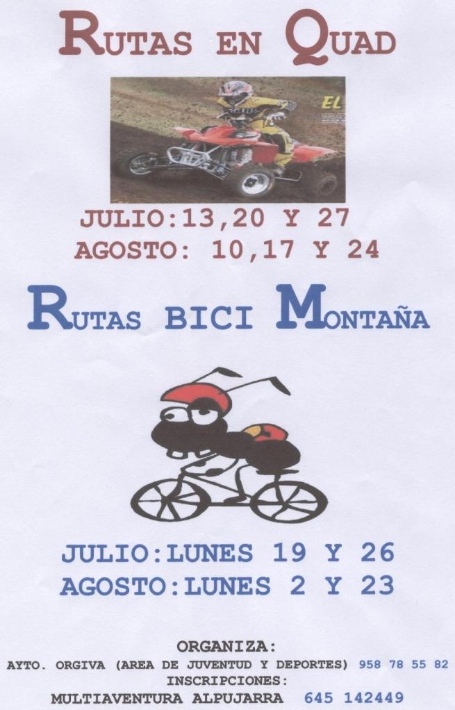 Rutas en Bici y Quad