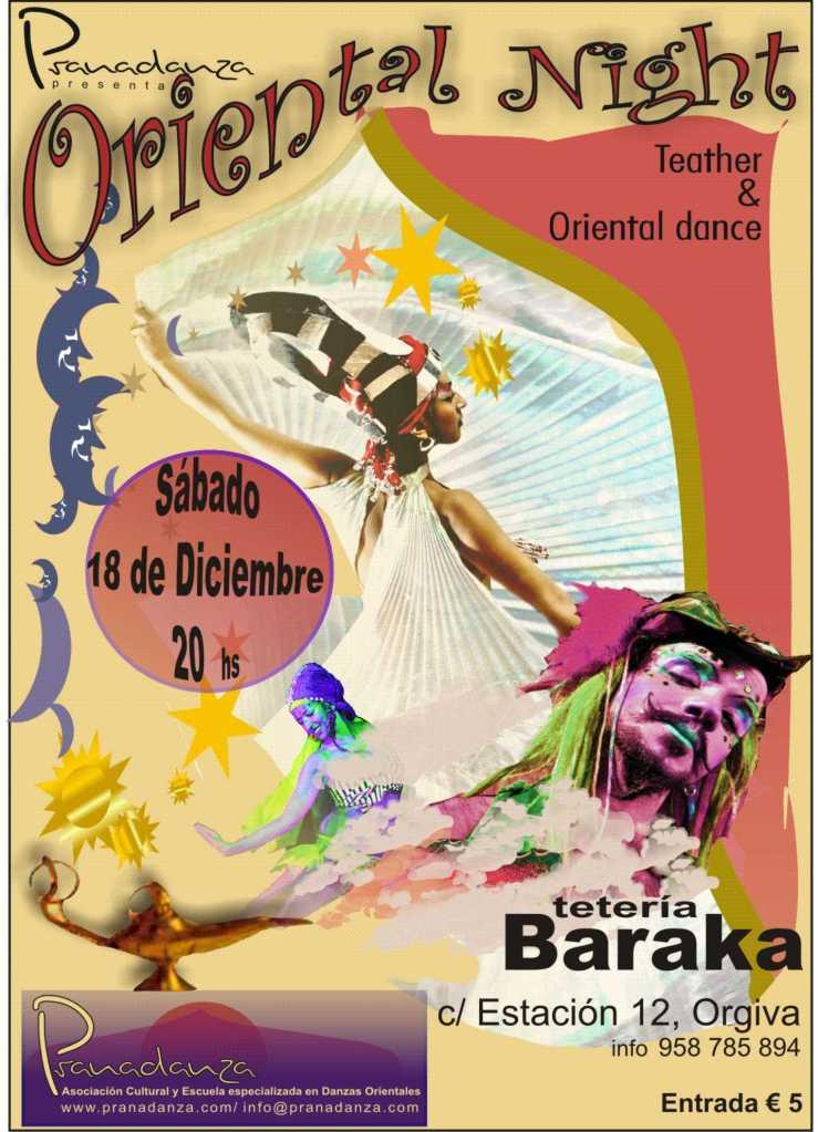 Espectáculo de Danza en Tetería BARAKA de Órgiva