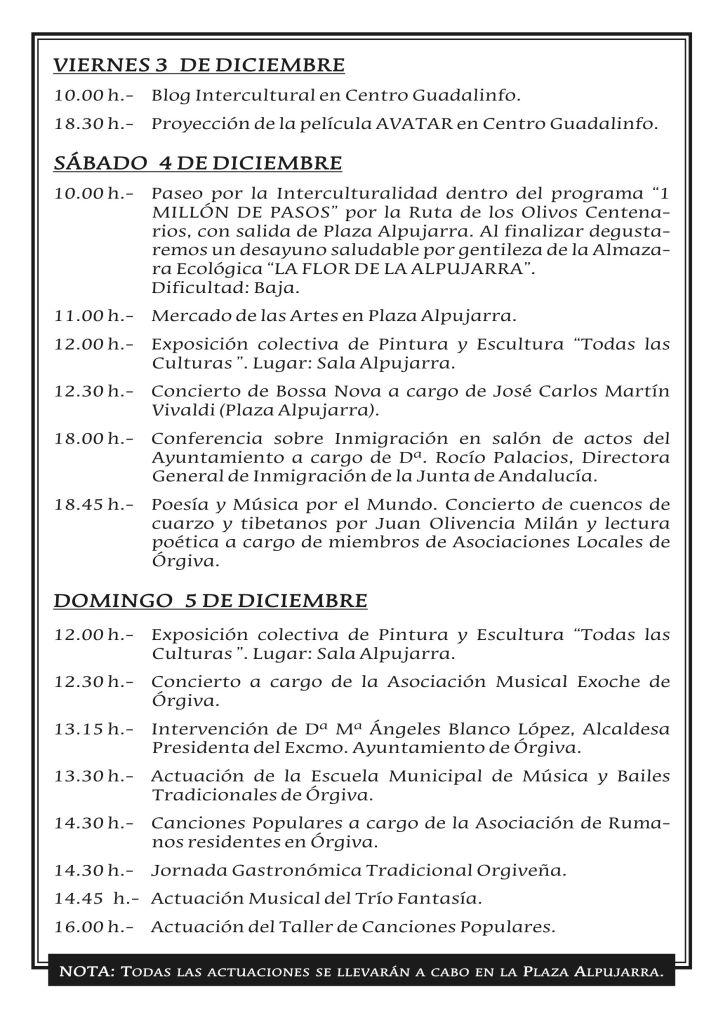 PROGRAMA DE ACTIVIDADES PARA EL PUENTE 2010