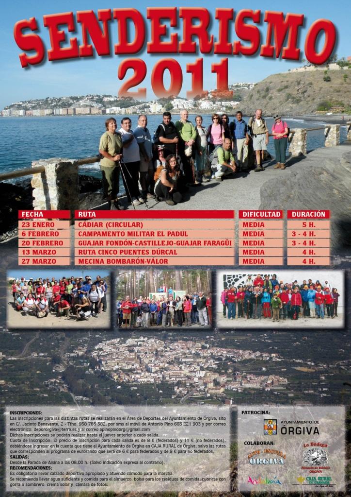 CARTEL PROGRAMA SENDERISMO 2011
