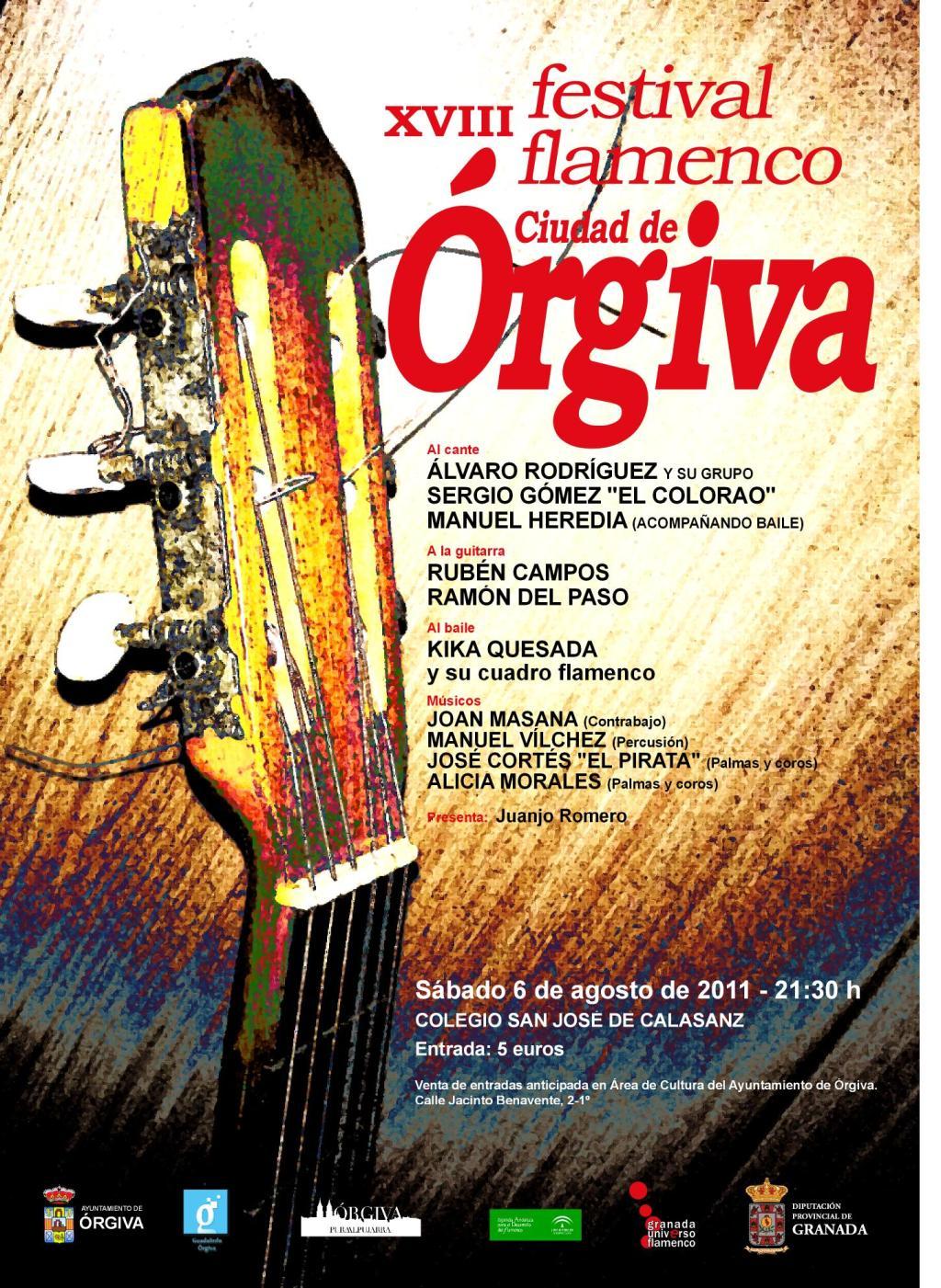 XVIII FESTIVAL FLAMENCO ORGIVA 2011