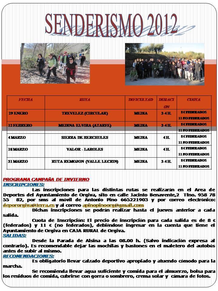 Senderismo Orgiva 2012