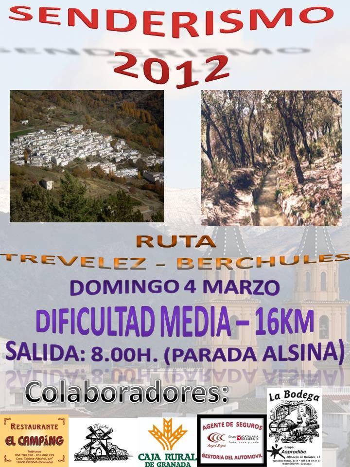 Senderismo Orgiva Marzo 2012