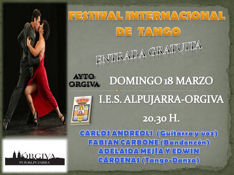 Festival Internacional de Tango de Granada en Órgiva