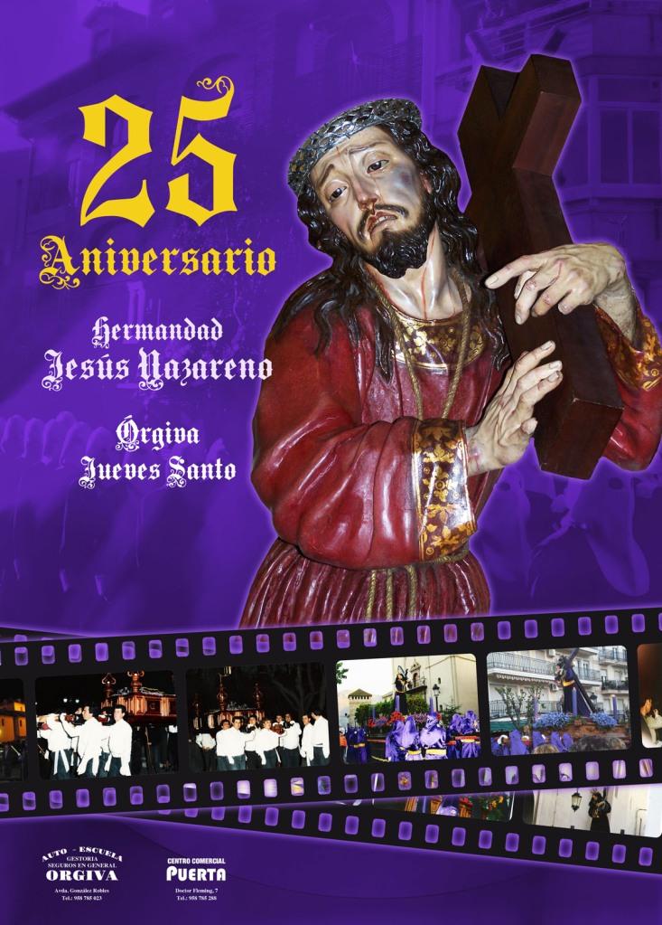 cartel semana santa orgiva 2012 nazarenos