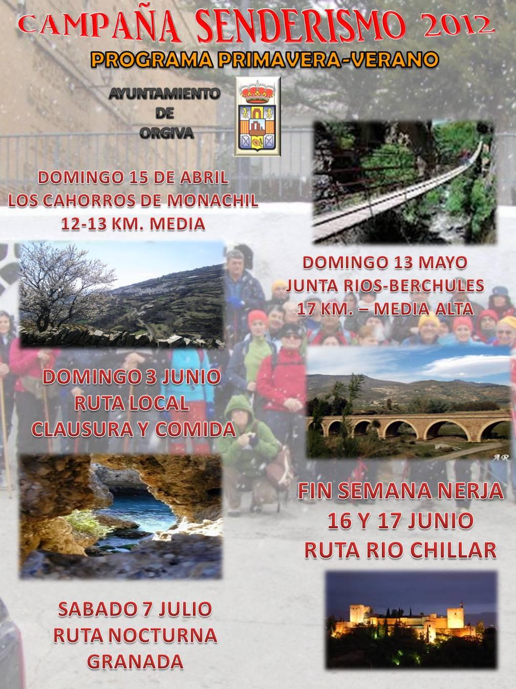 SENDERISMO PRIMAVERA - VERANO 2012