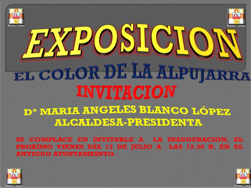 exposicion Orgiva El color de la Alpujarra