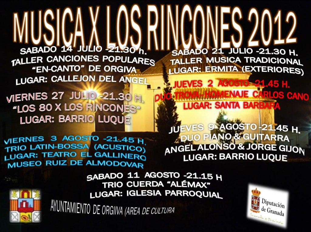 Música por los rincones verano 2012