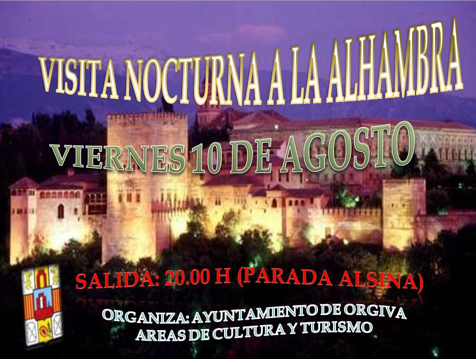 Visita nocturna a la Alhambra 2012