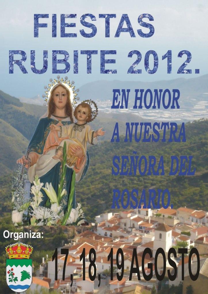 cartel fiestas rubite 2012