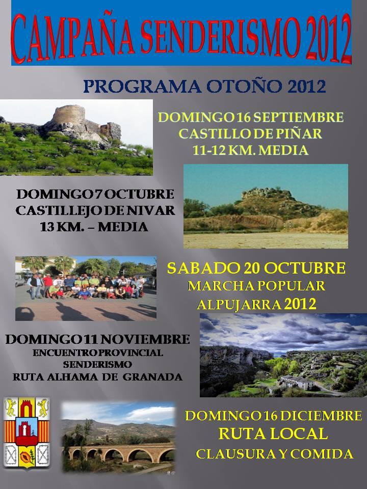 PROGRAMA SENDERISMO OTOÑO 2012