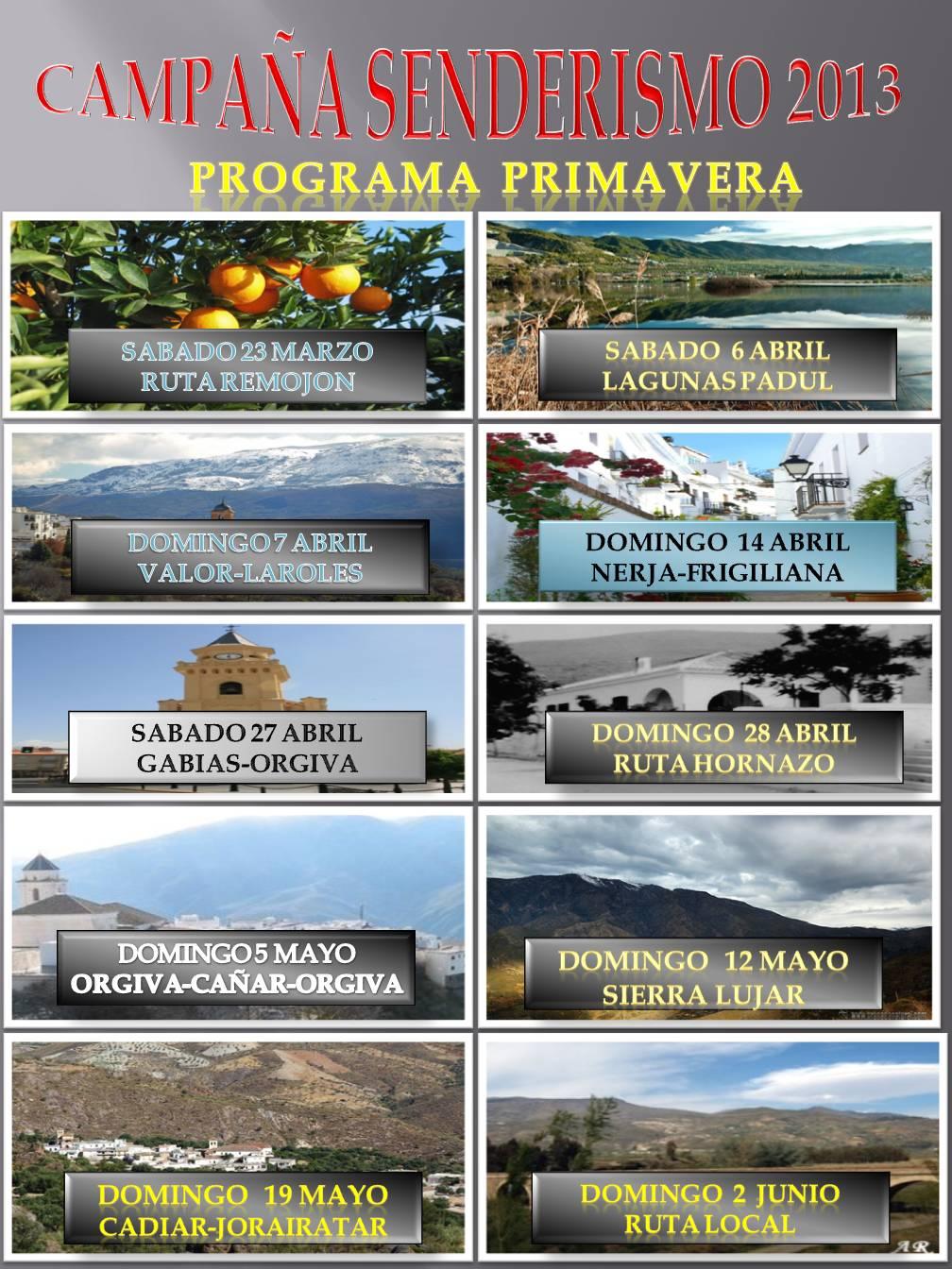 CARTEL SENDERISMO PRIMAVERA - 2013