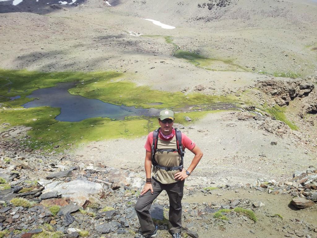 Vista de la laguna Hondera desde arriba.