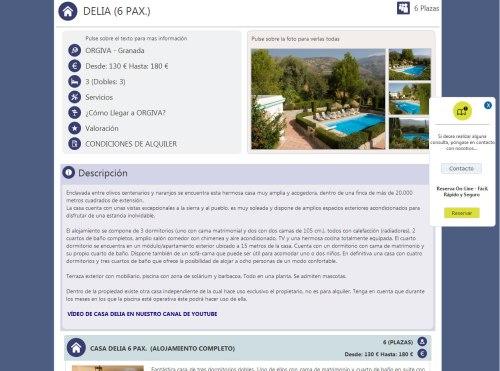 Ficha alojamiento Cortijo Puerta en la Nueva Web